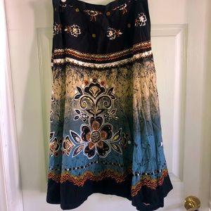Floral bling skirt